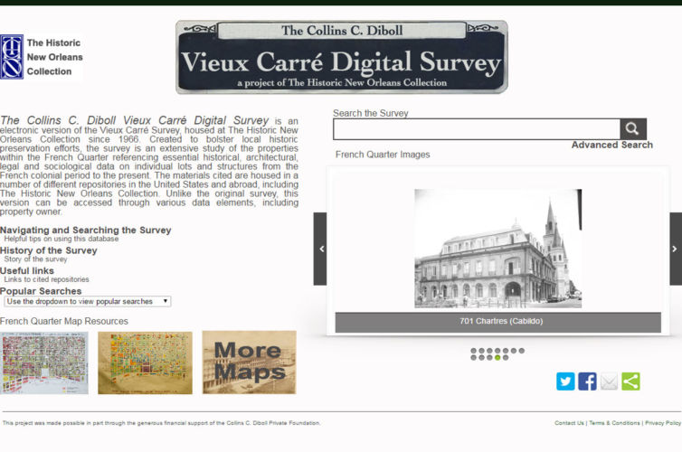Vieux Carré Digital Survey